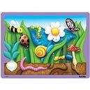 Magnified Garden Flat Tray Puzzle: 26 Pieces for Ages 3 and Up