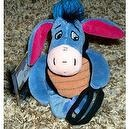 "Retired Disney Winnie the Pooh Baseball Catcher Eyore 9"" Plush Bean Bag Doll Mint with Tags"