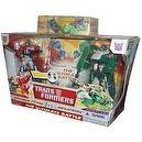 Transformers Ultimate Battle 2 Pack Set 6 Inch Tall Robot Action Figure - Autobot Leader Optimus Prime versus Decepticon Leader