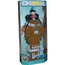 Barbie 1997 Collector Edition Dolls of the World 12 Inch Doll - Fourth Edition Native American Barbie with Poncho, Skirt, Headb