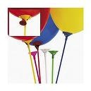 MULTICOLOR BALLOON STICKS WITH CUP (12 DOZEN) - BULK