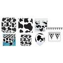 Cow Print Party Set - Balloons, Tablecloth, Pennant, Plates, Cups, Napkins