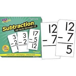 Flash Cards: Subtraction 0-12 All Facts; 169 Cards; no. T-53202