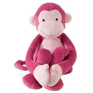 Lambs & Ivy Lollipop Jungle Plush, Pink Monkey