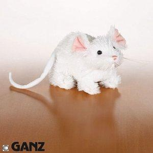LilKinz Mini Plush Stuffed Animal White Mouse