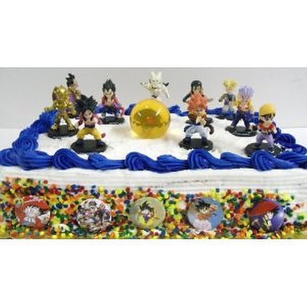 Dragon Ball Z Piece Birthday Cake Topper Set Featuring Dragon Ball