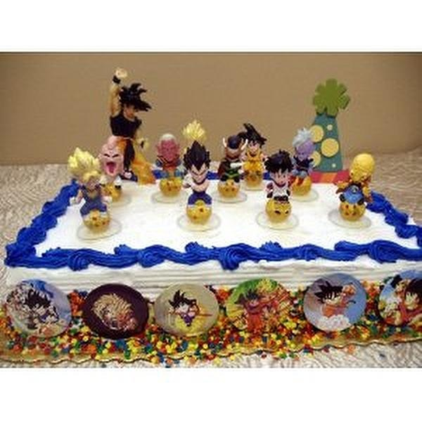 Exclusive Unique Dragon Ball Z Piece Birthday Cake Topper
