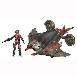 """GI Joe Movie Series """"The Rise of Cobra"""" Vehicle Set with 4 Inch Tall Action Figure - MANTIS ATTACK CRAFT with Capture Claw, Ope"""
