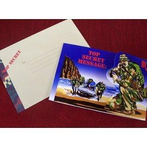 Deluxe GI Joe Thank You cards with matching envelopes: pack of 8