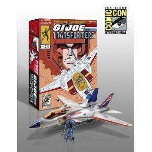 G.I. Joe Pursuit of Cobra SDCC 2011 San Diego ComicCon Exclusive 3 3/4 Inch Vehicle Skystriker Jet with Cobra Commander Starscr