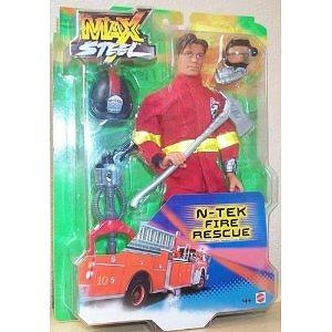 """MAX STEEL - 12"""" FIRE RESCUE ACTION FIGURE - BY MATTEL (2002)"""