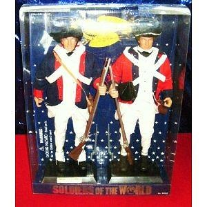American Patriot and British Redcoat