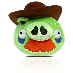 Angry Birds Plush  Inch Pig With Cowboy Hat