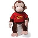 "Gund 36"" Curious George in Red Shirt"
