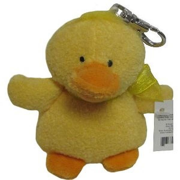 Yellow Ducky Duck Plush Stuffed Animal Clip on Belt Backpack ...