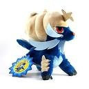 "Pokemon Center Black and White Pokedoll Plush Doll - 9"" - Daikenki/Samurott (Blue Label)"