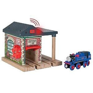 Tomy International Thomas Wooden Railway Lights And Sounds Fire Station