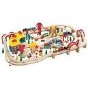 Maxim Wooden Train Set, 145-Pieces