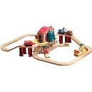 Tomy International Chuggington Wooden Railway Lights and Sounds Callys Rescue Set