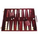 "Deluxe Backgammon Set - Board Game (Maroon - 18""x12"")"